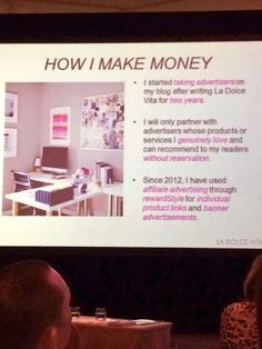 How to make money through your blog via LaDolce Vita at @Design Bloggers Conference #DBC2014 shared by The English Room