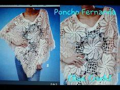 Aula 388-Versão destros: Poncho Fernanda em crochê (1° parte Explicação)# Elisa Crochê - YouTube