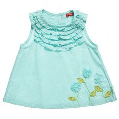 Oilily Girls Green 'Beertje' Blouse at Childrensalon.com
