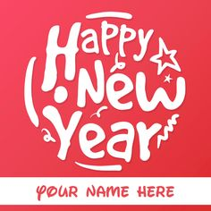 New Year Wishes Beautiful Mobile Greeting With Name