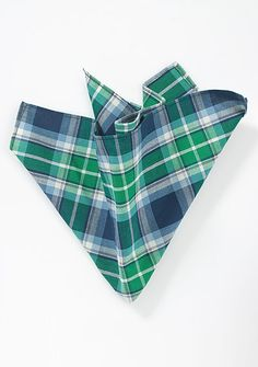 Summer Cotton Handkerchief in Green and Blue