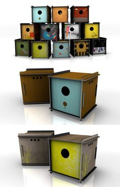 NeatNests::modern Bird Houses