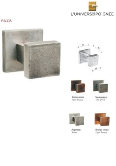 Kit encastr pour porte coulissante bronze collection l for L univers de la poignee