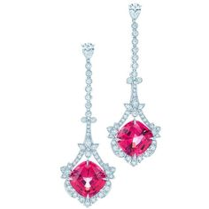 @diamondgirl1975 Red #spinel and #diamond earrings by @tiffanyandco Love the color!