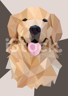 Výsledek obrázku pro golden retriever geometric