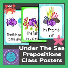 Under The Sea Prepositions Class Posters by Love 2 Learn English English Teaching Resources, Esl Resources, English Teachers, Teacher Resources, Co Teaching, Teaching Strategies, Teaching French, Teaching Spanish, Second Language
