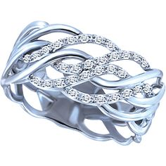 Ben Moss Jewellers 0.12 Carat TW, Sterling Silver Diamond Fashion Ring