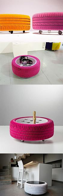 Tire table - I would want it outdoors though
