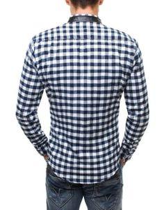 Flanelová kockovaná nebeská košeľa ZAZZONI 944