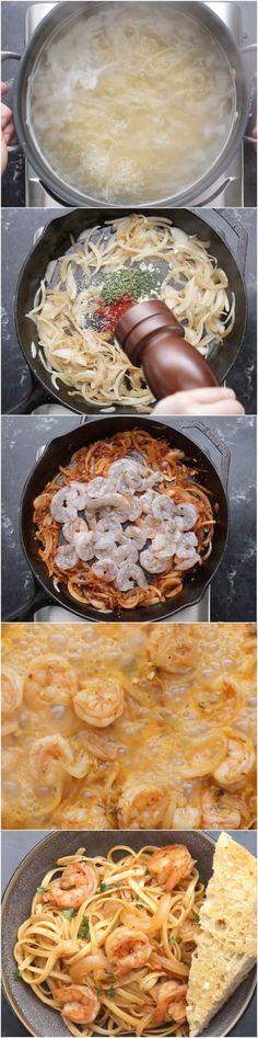 Lemon Paprika Shrimp Pasta