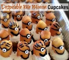 Looking for a super easy treat for an upcoming birthday party, or school party? These Despicable Me cupcakes are not only easy, but you could even use pre-made items if you are in a real rush!