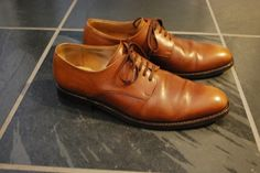Septieme Largeur Tan Derbies, 8.5 Uk Size 9 $112 - Grailed
