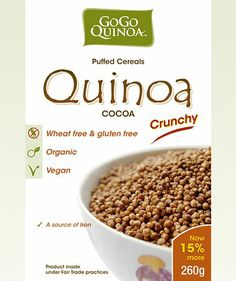 GOGO Quinoa Cocoa Puffed Crunchy Cereal
