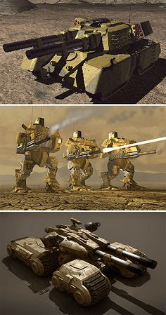"Warfare Regression - ""GDI armor in the first, second, and third Tiberium Wars. Game Concept Art, Weapon Concept Art, Battle Robots, Command And Conquer, Future Weapons, Military Armor, Sci Fi Ships, Military Equipment, Armored Vehicles"