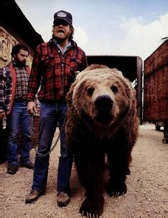 dude, this is Paul Bunyan and his grizzly bear