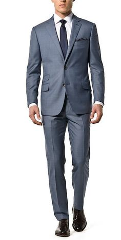 Blue Steel Revenge Solid - J. Custom Made Clothing, Love Clothing, Slim Fit Suits, Tailored Suits, Formal Suits, Grey Suits, Suit Fashion, Mens Fashion, Elegant Man