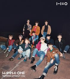 """Wanna One   2nd Album Cover (WANNA & ONE ver.) Wanna One """"1-1=0 (NOTHING WITHOUT YOU)"""" 2017.11.13 Album Release!"""