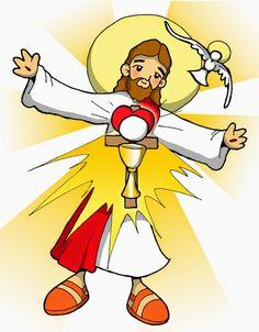 CUERPO Y SANGRE DE JESÚS - EUCARISTÍA Dibujos para catequesis