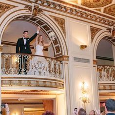 Reception Grand Entrance // Mary Wyar Photography // http://www.theknot.com/weddings/album/an-elegant-ballroom-wedding-in-detroit-mi-140051