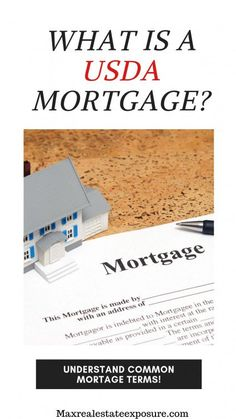 What is a USDA Mortgage? See 35 Mortgage Terms Buyers and Sellers Should Know at Maximum Real Estate Exposure. Mortgage Quotes, Mortgage Humor, Mortgage Loan Officer, Mortgage Companies, Mortgage Tips, Mortgage Payment, Mortgage Calculator, Debt To Income Ratio, Adjustable Rate Mortgage