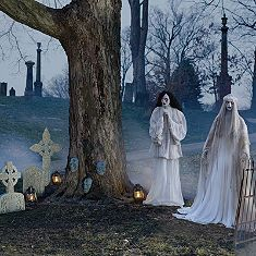 Unsettling Graveyard Scene