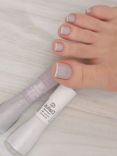 Mindas Ideas: 55 Modern Street Style Ideas Come Through When You Have Nothing to Try 2019 Pink Toe Nails, Pretty Toe Nails, Toe Nail Color, Cute Toe Nails, Pink Acrylic Nails, Feet Nails, Blue Nails, Nail Colors, My Nails