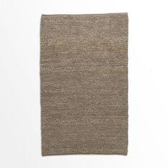 Mini Pebble Jute Wool Rug - Soot/Natural