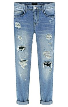 Blue Bleached Ripped Denim Pant 17.00