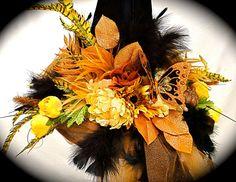 Leah's+Garden+Witch+Hat+OOAK+by+Marcellefinery+on+Etsy,+$74.00