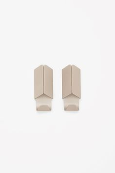 COS image 1 of HAY Volet hook set of 2 in Biscuit Flat Ideas, Perfectly Imperfect, Contemporary Fashion, Innovation Design, Really Cool Stuff, Objects, Stud Earrings, Cos, Accessories