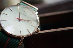 BRATHWAIT   The classic slim wrist watch: Verdant strap  $150.00   www.brathwait.com