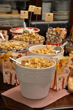 Here's some fun popcorn recipes. This was a dessert for a dinner I had at my house. I like the idea of everyone helping themselves. I put s...