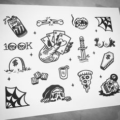 Free tattoos from my flash tonight up here at keystone Colorado for #zumiez100k my friends @adam_ciferri and @rachelschilling are coming out from Boulder to tattoo by sketchy_tank