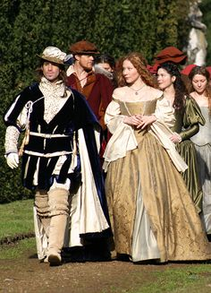 Joseph Fiennes & Lynn Collins in 'The Merchant of Venice' – Style is art Dress Up Costumes, Period Costumes, Movie Costumes, 17th Century Fashion, 18th Century Dress, Renaissance Wedding, High Renaissance, Historical Costume, Historical Clothing