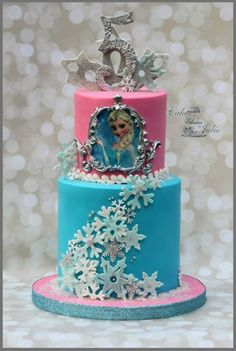 Frozen Birthday Cake cakes Pinterest Frozen birthday