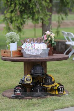 Firefighter wedding with rustic pink flair :) THIS IS WHAT I WANNNT!!!!!! @mrspettee2013  @p96637