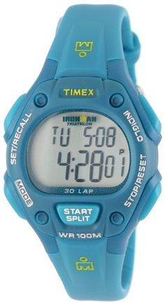 Timex Women's T5K7579J Ironman Traditional 30-Lap Teal Resin Strap Watch: Sports & Outdoors: Amazon.com
