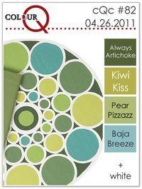 colourQ April 2011 Always Artichoke Kiwi Kiss Pear Pizzazz Baja Breeze Scheme Color, Colour Pallette, Color Palate, Colour Schemes, Color Combinations, Stampin Up, Colours That Go Together, Pantone, Color Style