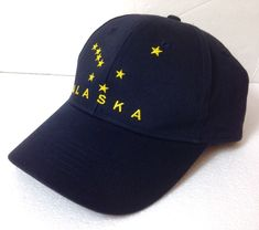 ee7b58d9e0b unworn ALASKA STATE FLAG HAT Dark Navy Blue (almost black) Yellow Star Men