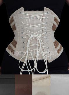 Ref.: WC 009. Corset waist-cincher em tela 100% algodão bege e sarja 100% algodão bege, faixas internas e fechamento frontal por busk . Site: http://www.josetteblanchardcorsets.com/ Facebook: https://www.facebook.com/JosetteBlanchardCorsets/ Email: josetteblanchardcorsets@gmail.com josetteblanchardcorsets@hotmail.com