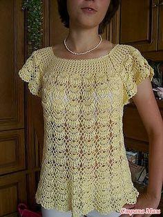 Blusas crochet con esquemas