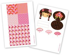 FREE printable kokeshi dolls (+ tutorial ^^)