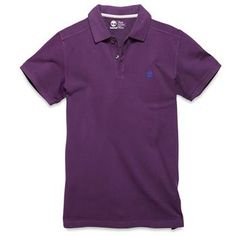 Timberland - Polo SS Millers River Homme Violet - Coupe Slim