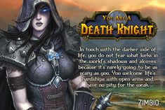 This explains why I have 10 of them! If I was a 'World of Warcraft' character, I'd be a Death Knight! #ZimbioQuiznull - Quiz