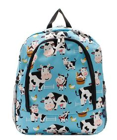 734739019b Moo Cow Backpack. Canvas BackpackBackpack BagsCow PrintColorful ...