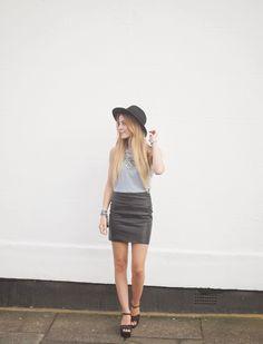 New Look Stripe Top BodyCon Skirt