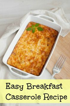 Easy Christmas Morning Breakfast Recipe!  Put together the ingredients and it bakes while you're opening presents.  It gets finished just as your done with presents and ready toe at!