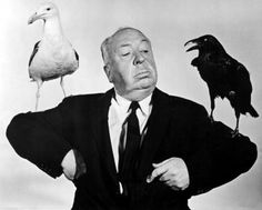 Portrait of Alfred Hitchcock for The Birds, 1962