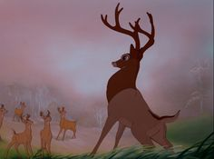 Screencap Gallery for Bambi Bluray, Disney Classics). The animated story of Bambi, a young deer hailed as the 'Prince of the Forest' at his birth. As Bambi grows, he makes friends with the other animals of Disney Pixar, Walt Disney, Bambi Disney, Disney And Dreamworks, Disney And More, Disney Love, Bambi Quotes, Bambi Art, Bambi 1942