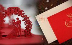 3D Laser Cut Card Bride & Groom, WDI033,